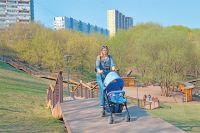 Зелёная зона в долине реки Очаковки со стороны ул. Озёрной после благоустройства стала любимым местом отдыха жителей близлежащих домов.