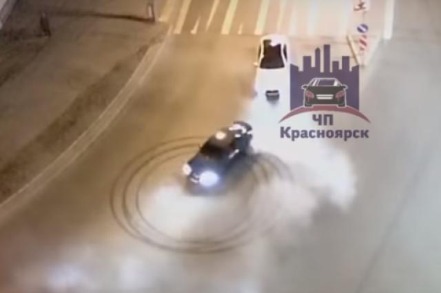 Водитель, управляя автомобилем «БМВ», выехал на перекресток «Октябрьская  – 78-ой Добровольческой Бригады» и совершил несколько круговых движений