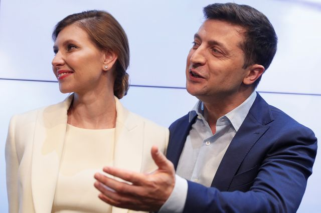 Елена и Владимир Зеленские.