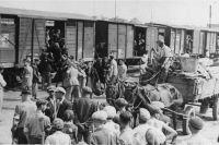 Депортация евреев из Лодзинского гетто.