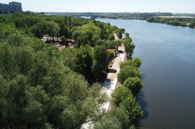 Благоустройства парка в районе Капотня.