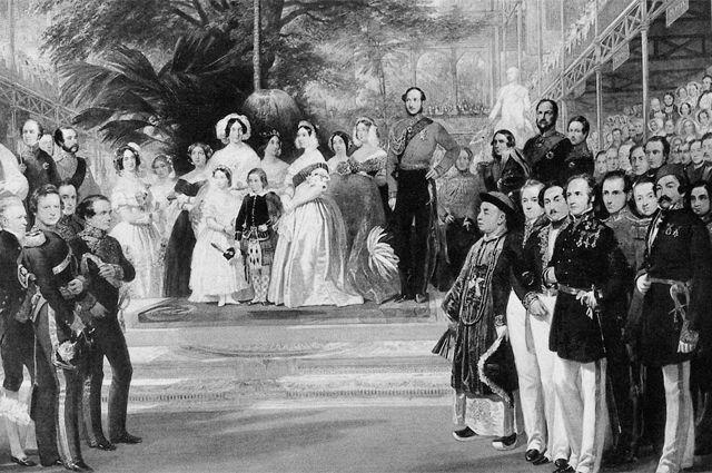 Королева Виктория и принц Альберт открывают Всемирную выставку в Лондоне. 1851 г.