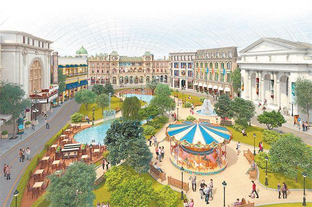 Проект крупнейшего в мире крытого парка развлечений «Остров мечты».