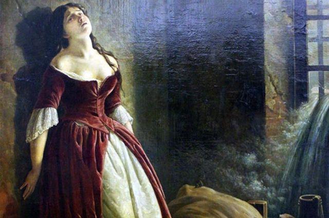 К. Д. Флавицкий. «Княжна Тараканова», 1864, Государственная Третьяковская галерея. Фрагмент.