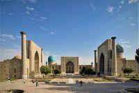 Площадь и ансамбль Регистан в Самарканде.