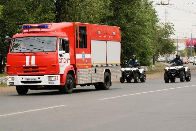 В Оренбурге потушен пожар в заброшенном доме