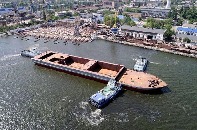 В Николаеве спустили на воду крупнейшее судно за последние 25 лет