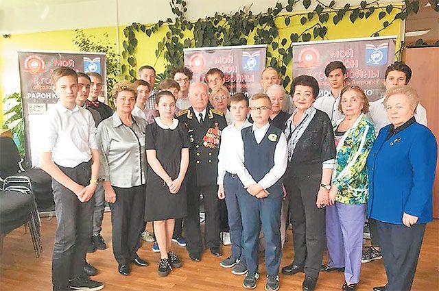 Ветераны района вместе с учащимися школы №2005 в Музее боевой славы. Сохранение исторической памяти, создание музеев местного значения – часть работы по городской программе «Мой район».