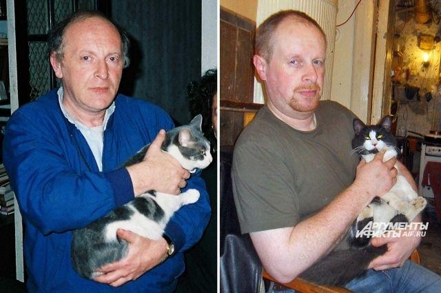 Андрей Басманов и Иосиф Бродский очень похожи не только внешне, но и привычками. Кстати, кошку такой же масти, как у отца, Андрею Басманову подарили. Пришлось оставить.
