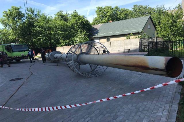 Котельной на ул. Красносельская заменили дымовую трубу