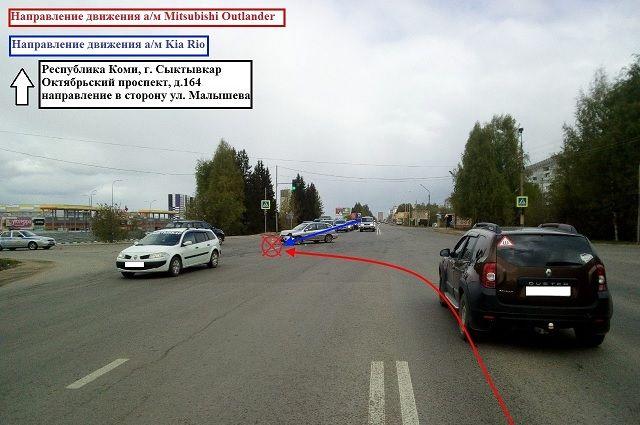 Женщина получила травмы в ДТП в Сыктывкаре.