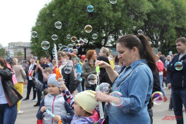 На праздник пермяки приходили целыми семьями.