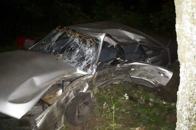 В Багратионовском районе при столкновении с деревом погиб водитель