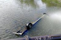 В Калининграде автомобиль упал в реку