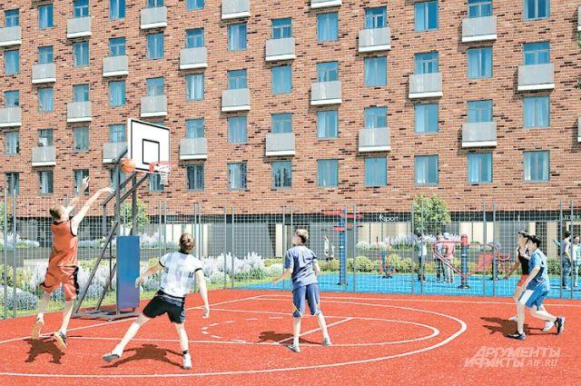 Проектировщики обещают: в новой спортивной зоне наЛенинградском шоссе обязательно будет баскетбольная площадка (Головинский район, САО).