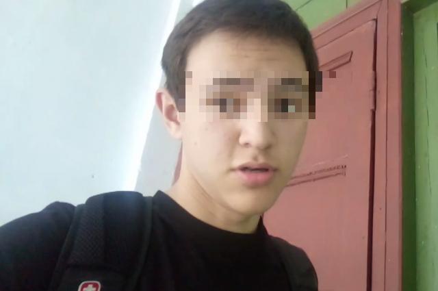 Кадр из видеообращения подростка на его странице «ВКонтакте»