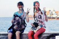 На фото фотомастера великая река играет всеми красками жизни.