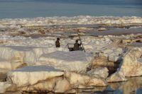 Весной огромные снежные глыбы плывут по реке словно айсберги, а летом на Печоре часто бывают большие волны.