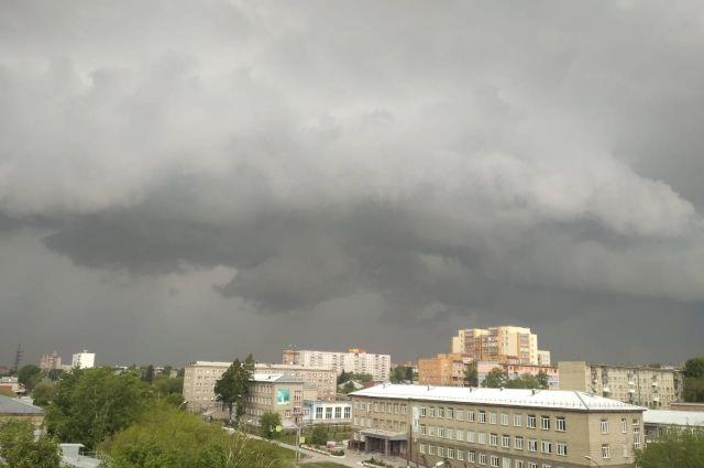 Новосибирск перед дождем