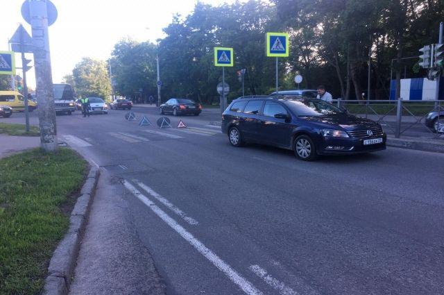 В Калининграде велосипедистка попала в ДТП