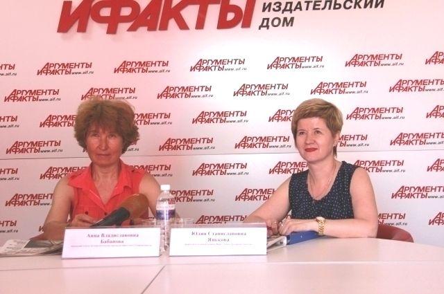 Анна Бабанова и Юлия Янькова.