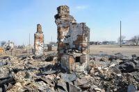 Последствия пожара в селе Усть-Ималка Ононского района Забайкальского края.