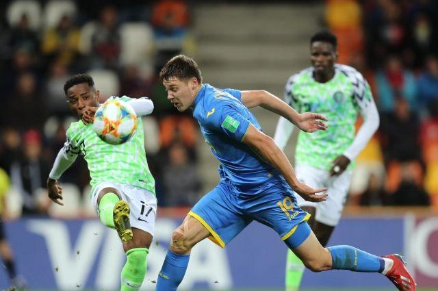 Ничья с Нигерией позволила занять Украине (U-20) первое место в группе