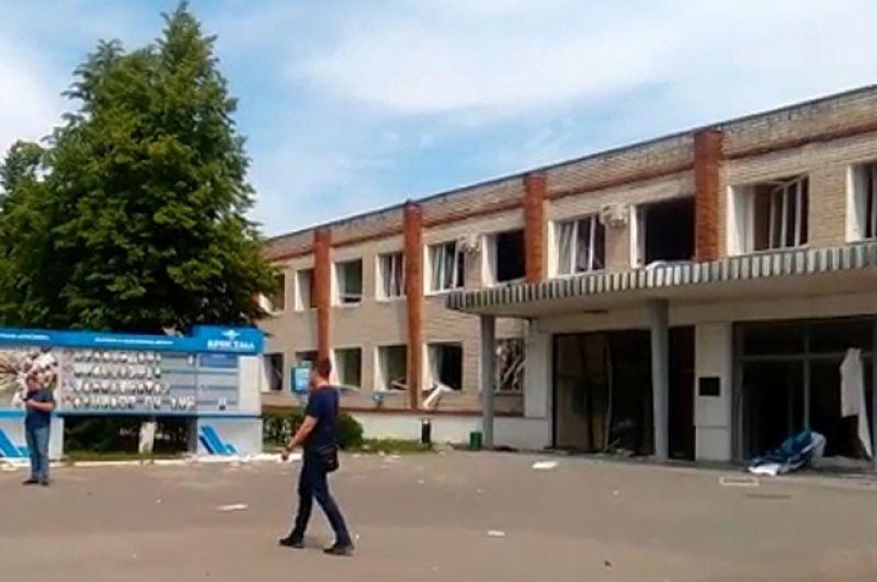 Проходная завода «Кристалл» вДзержинске.