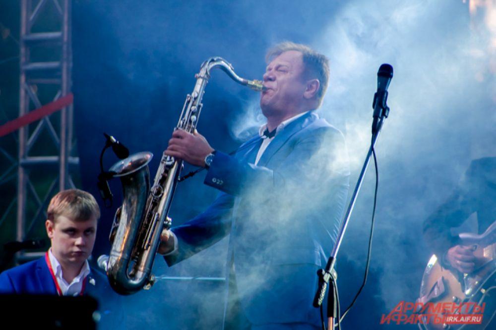 Также для горожан и гостей выступил известный джазмен Игорь Бутман