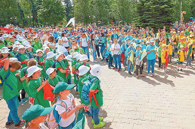 Учащиеся школы № 2115 в летнем лагере «Московской смены» в 2018 году.