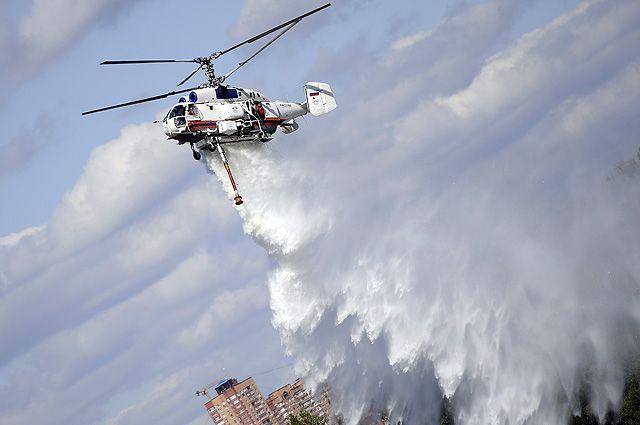 Для вертолётов разработана уникальная система горизонтального, вертикального и бокового пожаротушения.