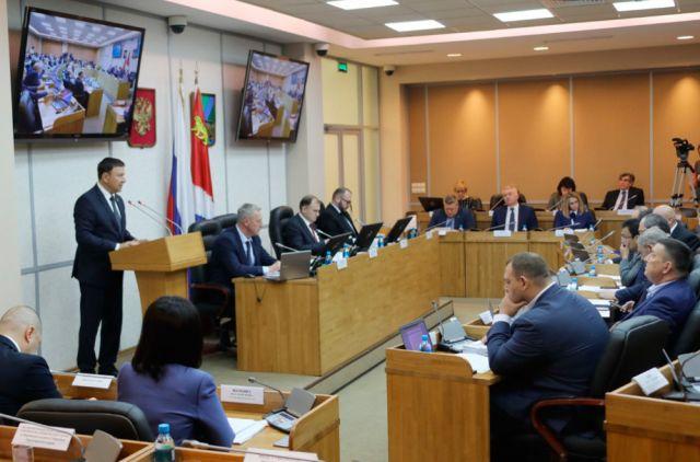 Председатель Законодательного собрания рассказал коллегам об итогах работы в 2018 году.