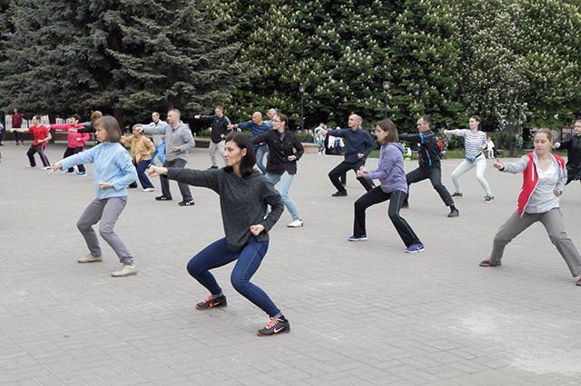 В Ижевске стартовали бесплатные занятия китайской гимнастикой
