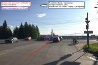 ДТП произошло 4 июня в 16.20 на перекрёстке улицы Малышева и Октябрьского проспекта.