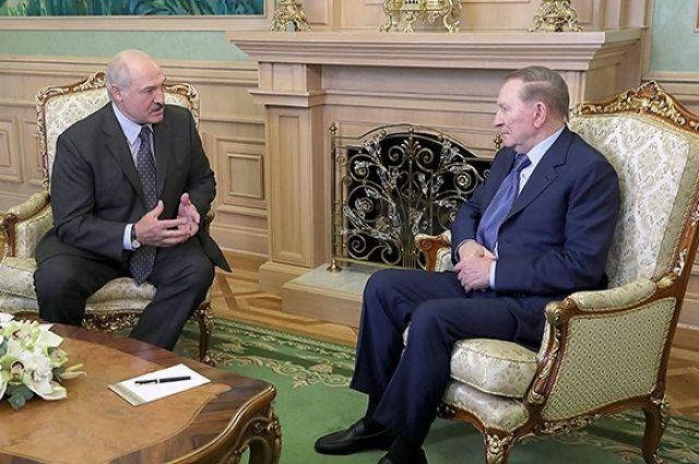 Кучма встретился с Лукашенко накануне переговоров по Донбассу