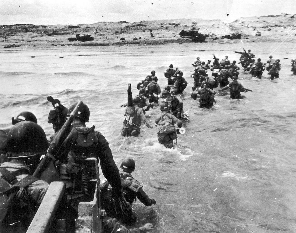 Солдаты на пляже «Юта».