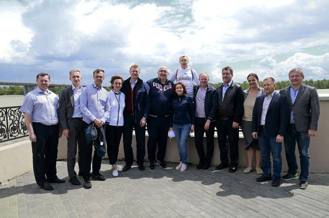 Депутаты Госдумы побывали на набережной Барнаула