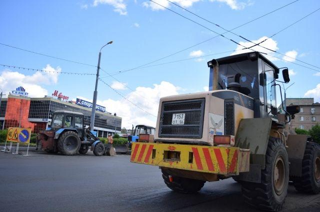 В Оренбурге продолжается ремонт и строительство дорог по программе БКАД.