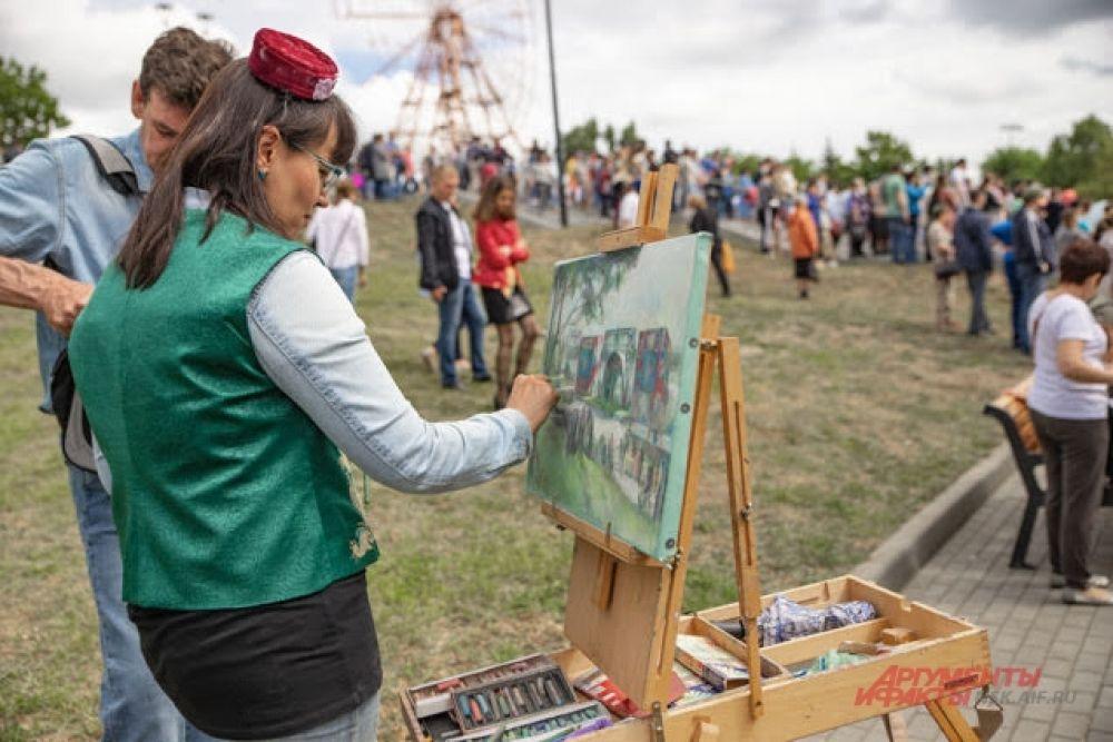 Не обошлось на Сабантуе и без выставки талантов: умельцы пустили в ход все свои самые завидные навыки. Гости праздника были в восторге.