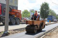 Ремонт тротуара на улице Аносова