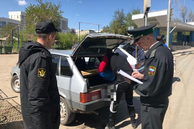 В Оренбурге за один рейд арестовано три автомобиля должников.