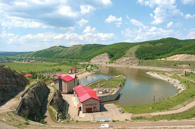 Станция идеально вписывается в природный ландшафт.