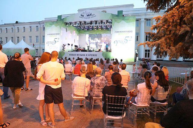 Послушать музыку в кремле пришли более 20 тыс. человек. Раньше фестиваль собирал 6 тыс.