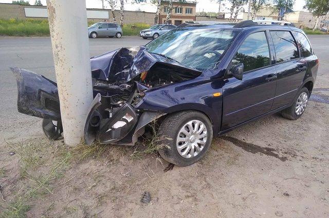 Авария произошла 12 июня около 17.0 напротив д.№174/4 по Воткинскому шоссе.