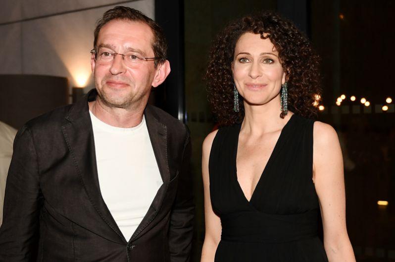 Председатель жюри основного конкурса, актер, режиссер Константин Хабенский и актриса Ксения Раппопорт.
