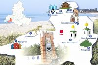 Что туристу посмотреть в Азовском районе, подскажет инфографика.