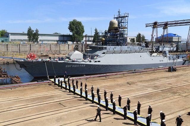 В Татарстане спущен на воду малый артиллерийский корабль «Ингушетия»