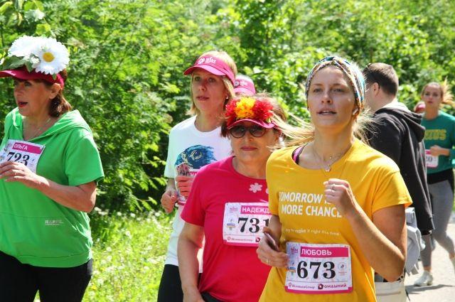 В Цветочном забеге в Омске приняли участие рекордное количество девушек