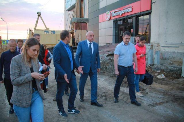 Сергей Цивилев осмотрел строящиеся объекты в городе.