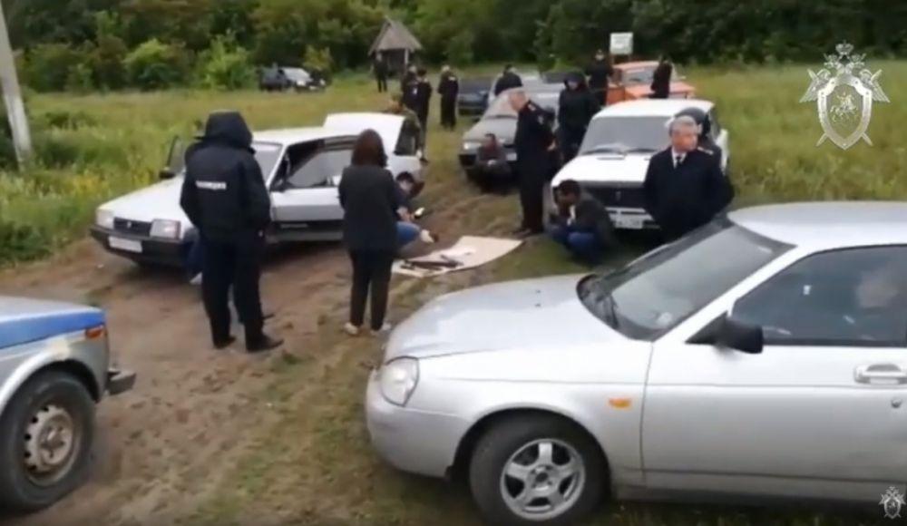 Задержание участников конфликта в селе Чемодановка Пензенской области.